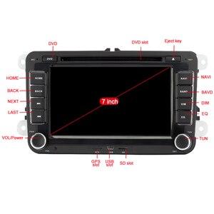 Image 2 - Eunavi 7 2 din Multimedia Player Car DVD GPS Navigation for VW Volkswagen GOLF 6 Polo New Bora JETTA PASSAT B6 SKODA Radio RDS