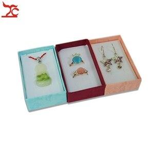 Image 3 - 24 adet Mix renk hediye kutusu takı küpe organizatör saklama kutusu kolye kağıt ambalaj kutusu takı yüzük saklama kutusu 8*5*2.5CM