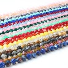 LanLi модные новые продукты 8 мм многоцветные граненые натуральные камни свободные бусины подходят для DIY браслет ожерелье аксессуары