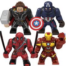 BIG Size charakter kapitan ameryka Thor Iron Man Dr dziwne Loki Hulk Thor Thanos Dealpool Model figurki klocki dla dzieci tanie tanio Disney CN (pochodzenie) Unisex 6 lat Mały budynek blok (kompatybilne z Lego) 6938242953362 Certyfikat 8197 Big size Marvel Avengers