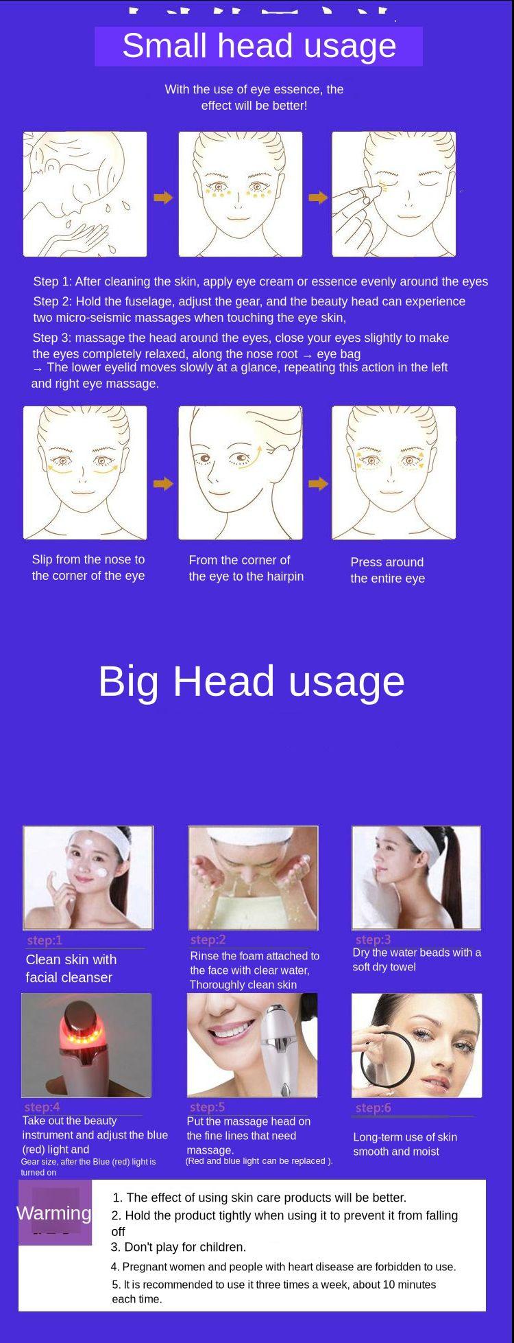 Dispositivo de massagem de olho elétrico íon