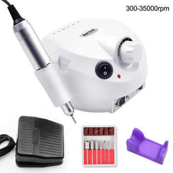 35000RPM Pro taladro eléctrico de uñas máquina eléctrica de manicura taladros accesorio Kit de pedicura uña taladro Lima herramientas de uñas