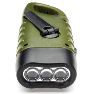 Mini Emergency Hand Crank Dynamo Solar Flashlight Rechargeable LED Light Lamp Charging Powerful Torch For Outdoor Camping