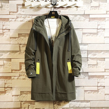 Casual Mens Windbreaker Jackets Long Trench Coat For Men Spring Autumn Winter Clothes(China)