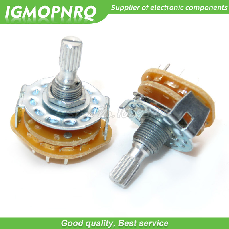 2pcs RS25 Band Switch Switch Potentiometer Rotary Switch 1 Pole 11 Position