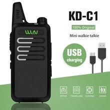 WLN MINI Walkie Talkie KD C1 portátil, transceptor FM, Radio bidireccional, Ham, comunicador, estación de Radio de KD C1, intercomunicador inalámbrico
