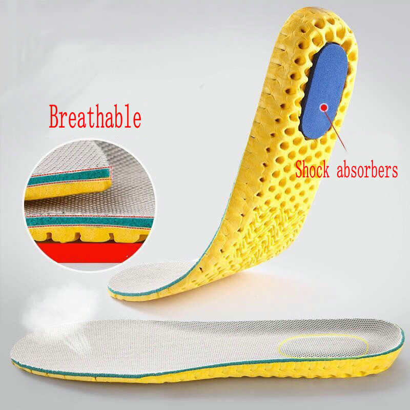 Shockproof Cushion Stretch Breathable Deodorant Running Cushion Insoles Feet Man Women Insoles For Shoes Sole Pad Memory Foam