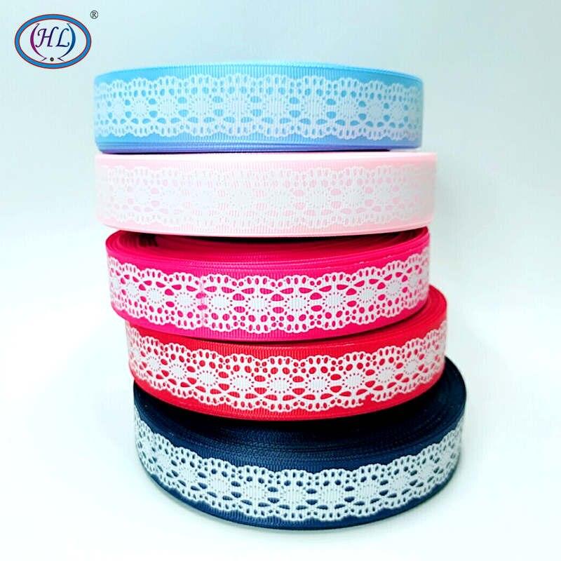 5-10 Yard 1/'/' 25MM Roses Printed Grosgrain Ribbon Hair Bow Sewing Crafts Ribbon