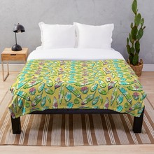 Manta suave para Sherpa de cama, manta de franela polar, sofá de viaje para el hogar, manta suave, plumas Vintage amarillas