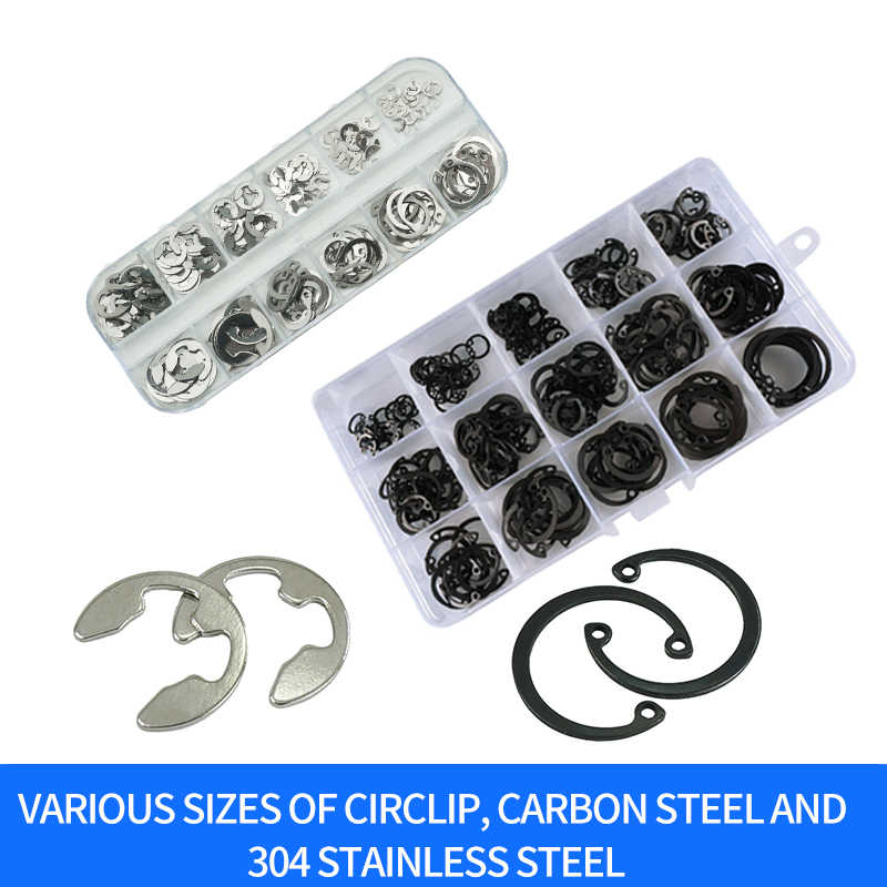 Luchang C-Type ยืดหยุ่นซีล Snap Retaining เครื่องซักผ้า Circlip ชุดแหวนวงแหวน Snap Retaining WASHER