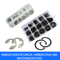 Luchang c-tipo selos elásticos snap retenção arruelas kit anel circlip snap retenção arruela