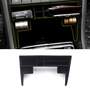 Image 5 - Vtear for Skoda Kodiaq car storage box Central Control Tray Holder Stowing tidying Interior Mouldings styling accessories 2019