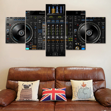 Canvas Pictures Home Decor 5 Pieces DJ Music Player Paintings HD Prints Console Poster Modular Living Room Wall Art Frame