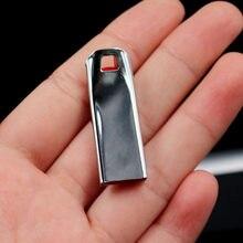 O envio gratuito de nova chegada metal usb pen drive pendrive 128gb 64 32 16gb 8gb 4 flash memória vara pen drive usb vara