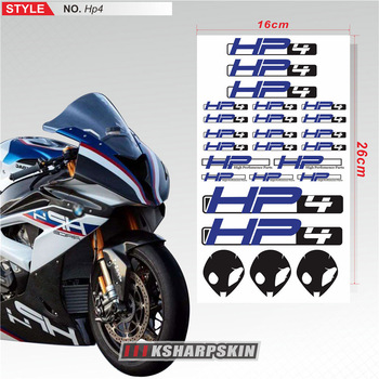 New Motorcycle Stickers Body Reflective Waterproof Body fuel tank logo sticker Kit set For BMW HP4 hp 4 sign decal punisher logo helmet motorcycle decal sticker m1 3x 2 1 4 reflective white