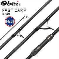 Obei purista carpe canne à pêche en Fiber de carbone Fuji tige de filature pesca 3.5 3.0lb puissance 40-160g 3.60m tige de Surf pôle dur