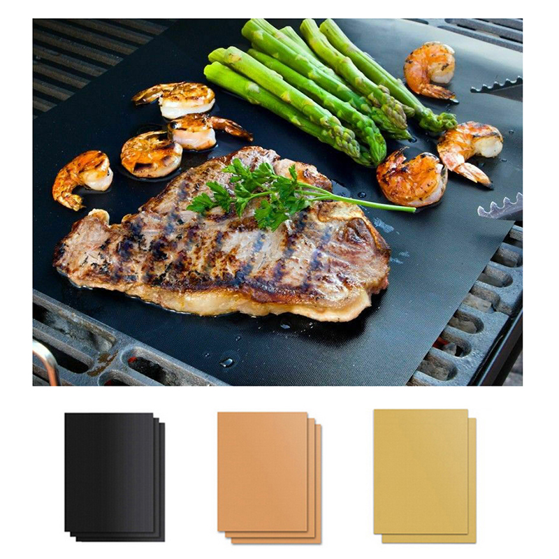 Kitchen BBQ Tools Non-stick BBQ Mat Bakeware Grill Mat Heat Resistance Microwave Barbecue Accessories Bbq Cover Cooking Utensils
