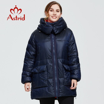 Astrid 2020 delle Nuove donne di Inverno cappotto lungo delle donne Modello parka caldo di modo Giacca con cappuccio Bio-Imbottiture di grandi dimensioni abbigliamento femminile 7253 1
