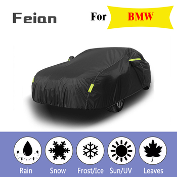 Full Car Covers Outdoor Waterproof Sun Acid Rain Snow Protection UV Car Umbrella black auto cover SUV Sedan Hatchback for BMW