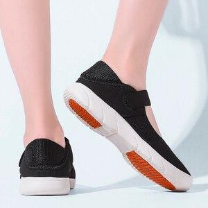Image 5 - STQ Zapatos planos de plataforma para Mujer, zapatillas informales de malla transpirable, Zapatos náuticos, Señora, para otoño, 2020