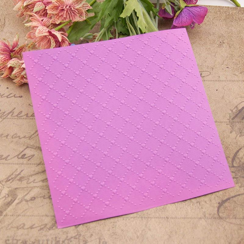 15*15CM 1Pcs Plastic Photo Album Decor DIY Scrapbooking Making Paper Card Embossing Folders Template Transparent