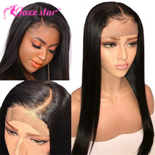 Brazilian Wig Straight Lace Front Wig 13*4 Lace Front Human Hair Wigs Pre-Plucked With Baby Hair Jazz Star Non Remy Lace Wig(China)