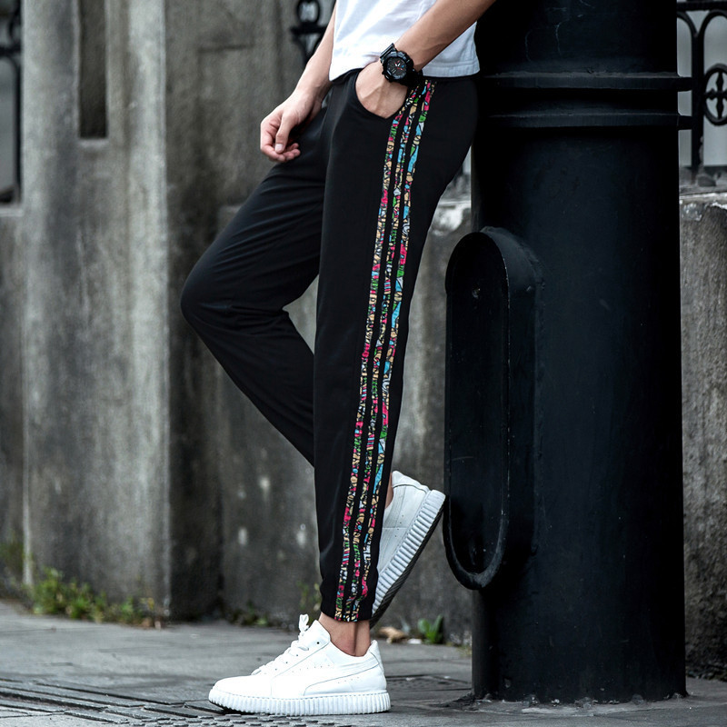 Summer Athletic Pants Skinny Pant Football Training Trousers Received Skinny Basketball Running Fitness Knit Closing Casual Pant
