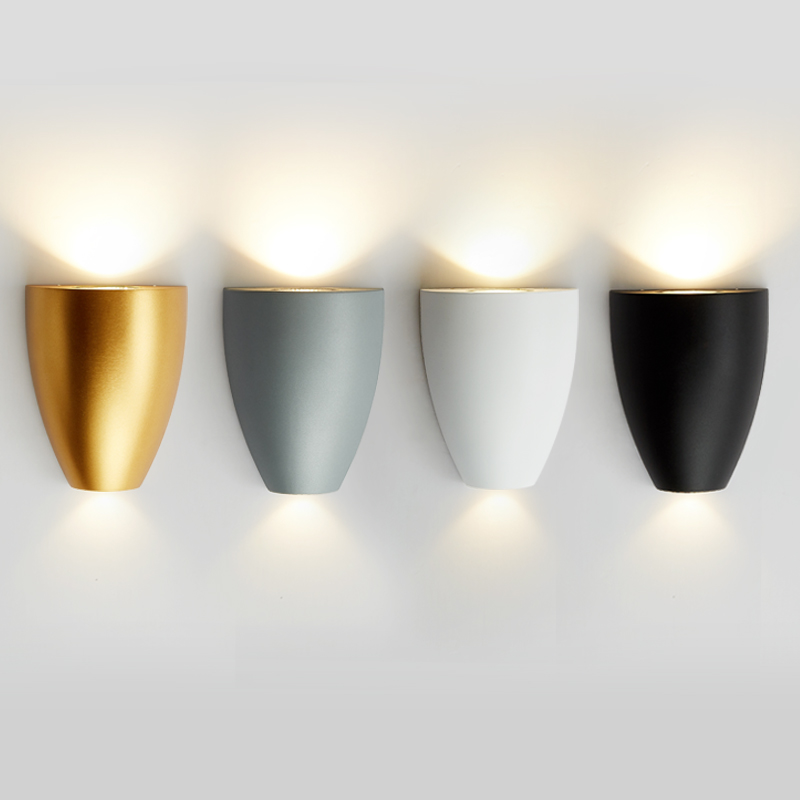 Modern LED wall lamp 7W home decoration wall light for living room bedroom bathroom Wash wall sconce Aluminum lighting fixture