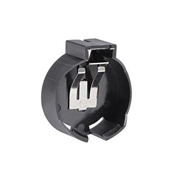 Uxcell 10 قطعة CR2477 2 محطات أفقي عملة زر حامل البطارية حاوية سوداء