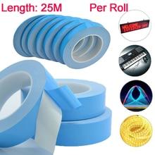 25 м синяя Двухсторонняя клейкая лента для теплообмена лента термальная проводящая клейкая лента для PCB cpu светодиодные полосы света радиатора