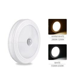 Smart PIR Motion Sensor Night Light Under Cabinet LED Lights for Kitchen 6 LEDs Night Lamp Closet Corridor Wall Lamp Battery