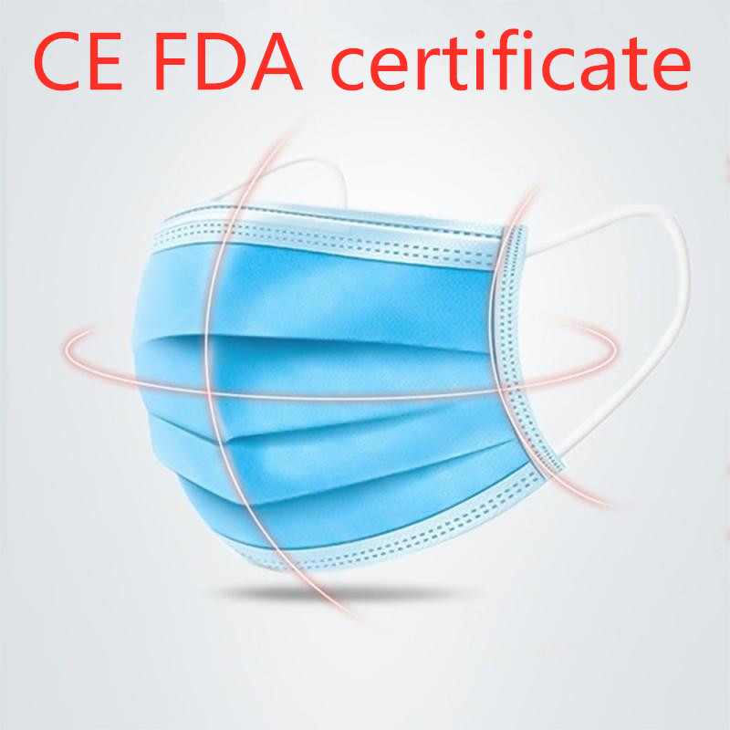 1Pc Disposable Mouth Mask FFP3 3 Ly Non-woven Dust Filter Mouth Cover PK Respirator N95 KN95 Antiviral Mask CE FDA Certification