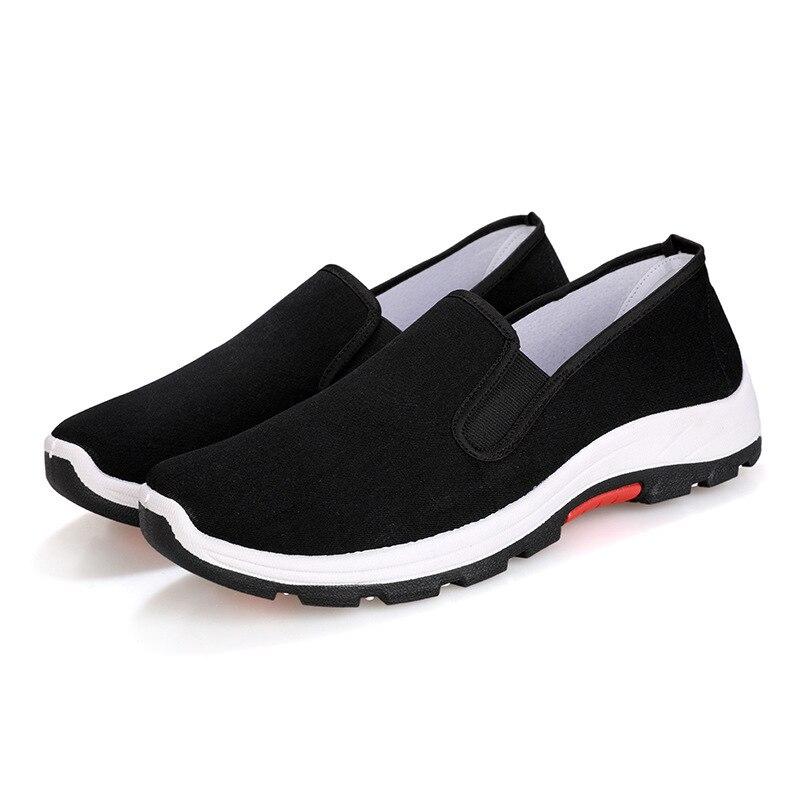 Espadrilles hommes sans lacet chaussures de conduite 2019 respirant toile hommes chaussures de marche hommes mocassins chaussures plates taille 39 44   AliExpress