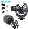 Конденсаторный видеомикрофон TELESIN, универсальный видеомикрофон для камеры, дробовик для iPhone, Android, Canon, Sony, DSLR, Mac