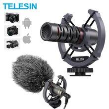 Конденсаторный видеомикрофон telesin универсальный для камеры