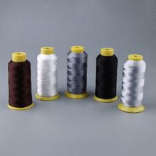 Fil à coudre en Nylon 210D solide, 1 rouleau (984 Yards) pour la couture du cuir, réparation de toile de tente artisanale pour la fabrication de bijoux