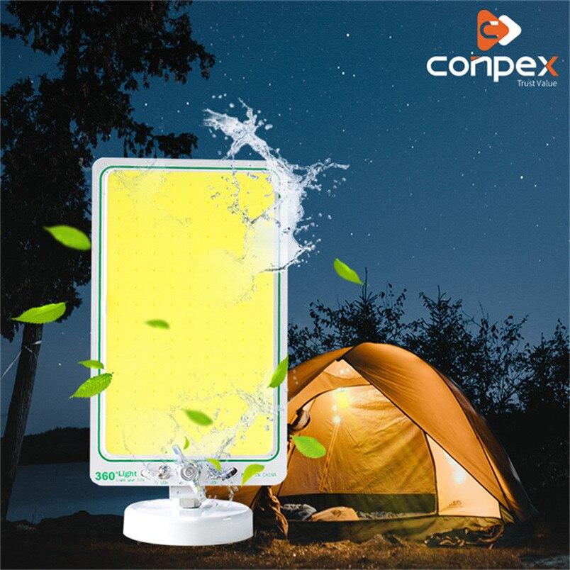 Portable Emergency Lighting 12V 20W Recargable LED Camping Tent Light COB Plywood Decorative Garden Work Light Magnetic Base