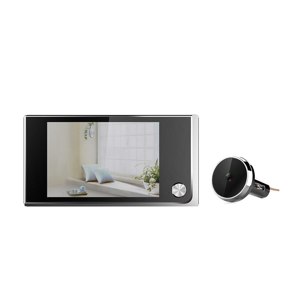 520A Mini HD Outdoor Viewer Door Eye 130 Degree Viewer Indoor Outdoor LCD Color Screen Visual Video Digital Doorbell