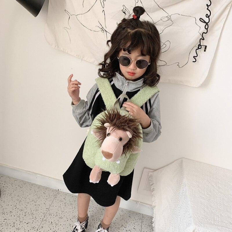 Korean-style Backpack 2019 Winter Fashion Cute Cartoon Bunny Woolen Cloth Backpack Children Nursing Accessories School Bag