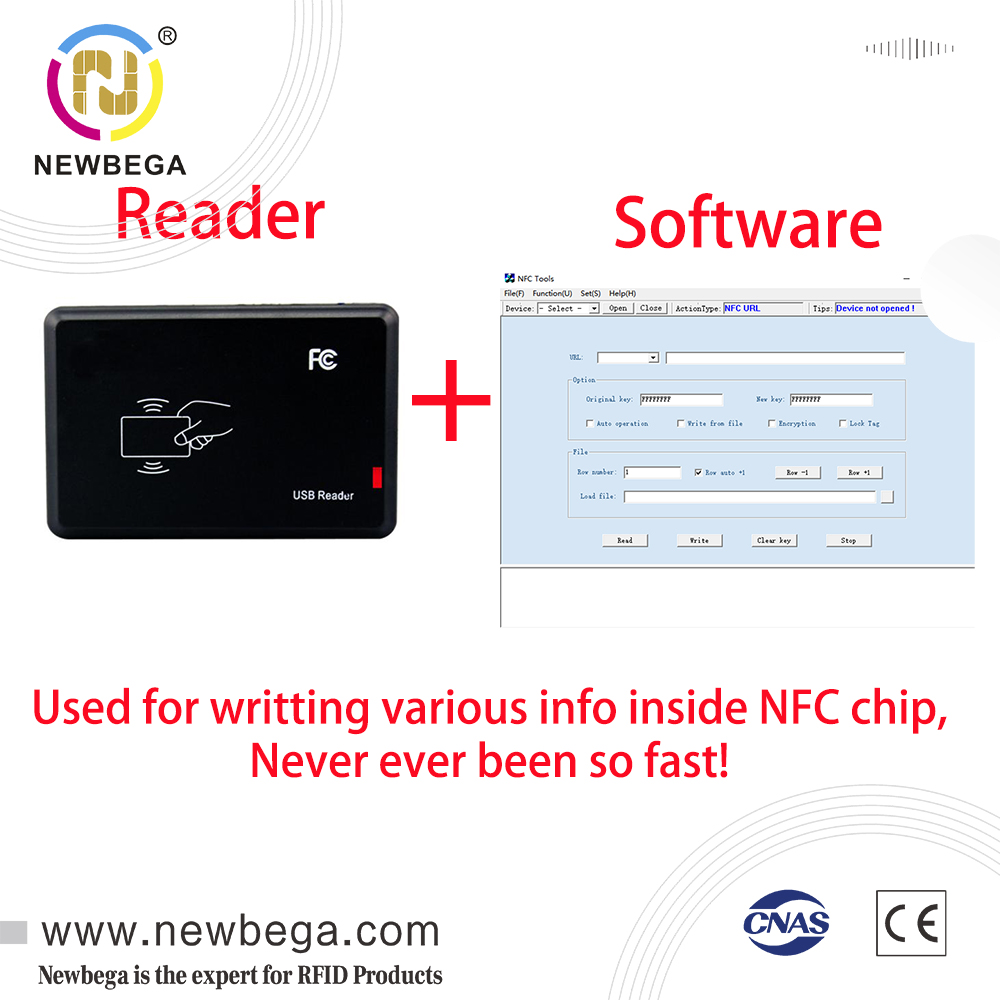 Ntag213 Reader RFID Writter,Long Read Range/Distance,Contactless,with USB,For NFC Chip Smart Card or Tag 1PCS