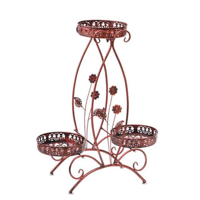 M8 European Wrought Iron Flower Stand Multi-layer Balcony Floor-standing Indoor Living Room Thickening Flower Shelf Flower