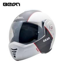 BEON Motorcycle Helmet Touring Motorbike Helmet Racing Street Moto Casco Men Women Chopper Scooter Cruiser Full Face Helmet цена в Москве и Питере