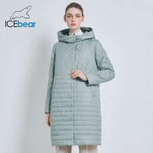 ICEbear 2019 New Long Womens Autumn Coat Casual Female Coats Hooded Womens Clothing Long Brand Jacket with Zipper GWC19039I