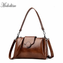 Mododiino Brand Women Shoulder Bag Oil Wax Leather Bags Handbag Luxury Purses And For DNV1157