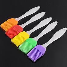 Пищевая силиконовая щетка с прочной ручкой из полипропилена для муссов и десертов, шоколадного мороженого, кондитерских изделий, инструмент для выпечки, случайный цвет