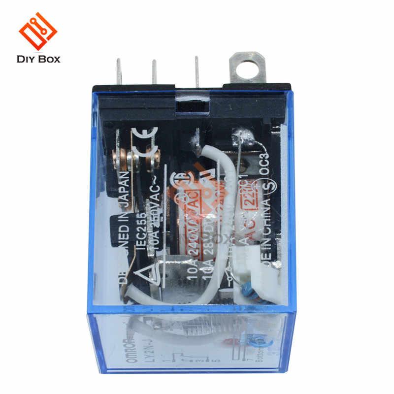 1 Pcs LY2NJ Relais Elektronische Module 8 Pin Vertraging Relais Transparante Shell Relais Ac 220V Dc 12V10 Een Mini elektromagnetische Spoel Power