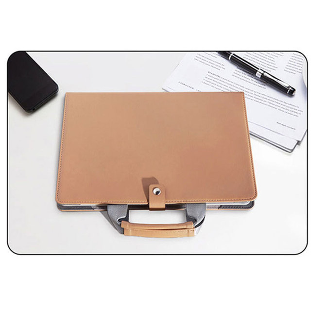 Portable Book Bag For Macbook Pro 16 Air Pro Retina 11 12 13 15 Leather Sleeve Case For Mac Book Air 2020 Coque Shell