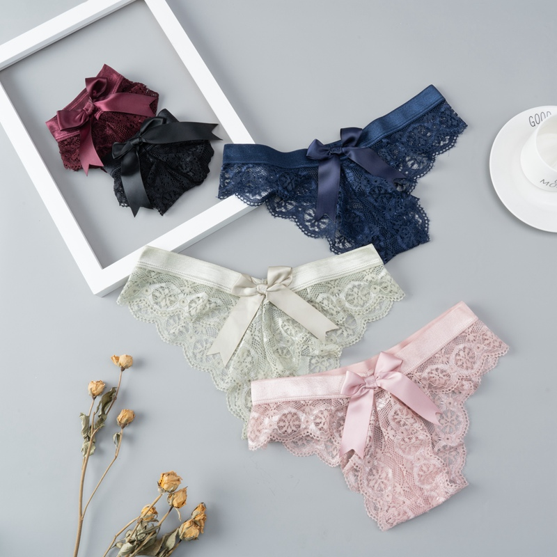 Culotte en dentelle pour femmes, String G, confortable, Transparent, taille basse, pièces/ensemble
