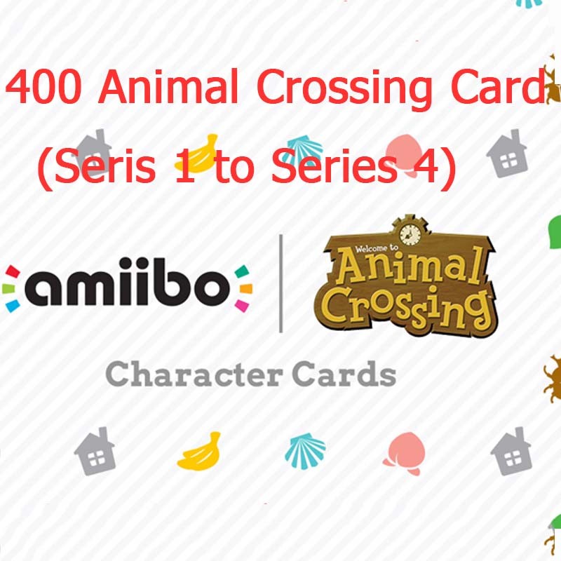 <font><b>Animal</b></font> <font><b>Crossing</b></font> <font><b>Card</b></font> <font><b>Amiibo</b></font> <font><b>Card</b></font> Full Set 400 Pieces (Series 1 to Series 4) image