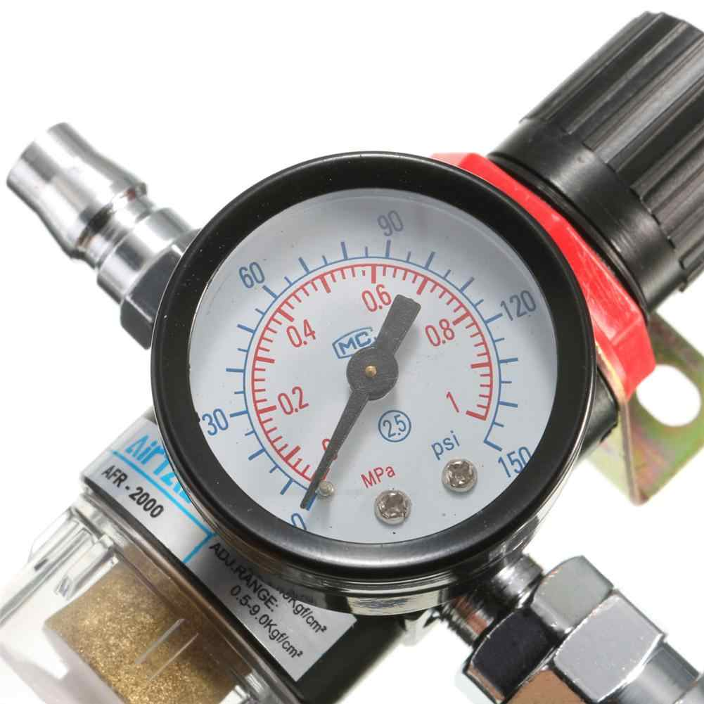 1/4 بوصة قياس الضغط المانومتر مرشح ضاغط الهواء فاصل المياه فخ أدوات النفط فاصل منظم الداهن ماطر